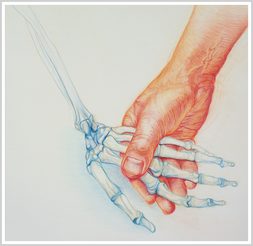 Holding Lucy's hand by artist Richard Tomlin