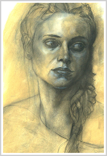 A Young Woman by artist Richard Tomlin