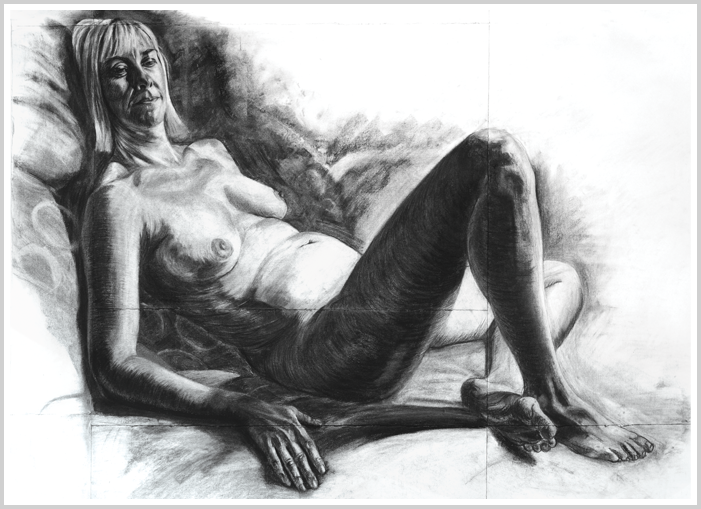 Caroline Reclining by artist Richard Tomlin