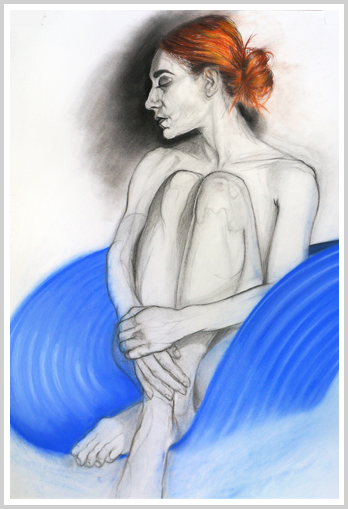Woman_on_a_Blue_Chair_by_artist_Richard_Tomlin