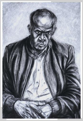 Man on the edge by artist Richard Tomlin